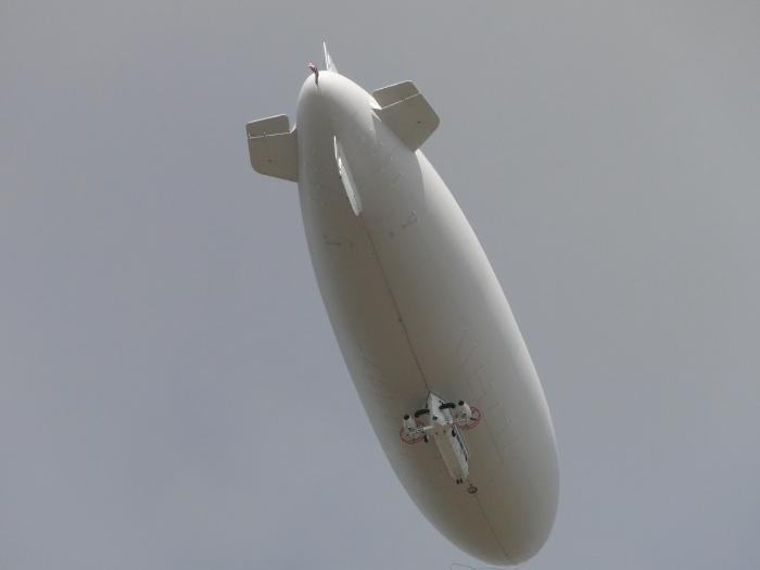 Navy Training Blimp Flyover Feb 4 2011